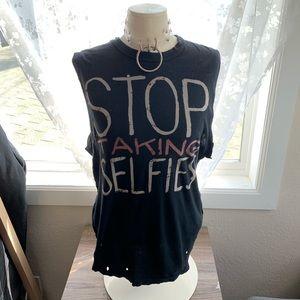 UNIF Stop Taking Selfies Muscle Tank